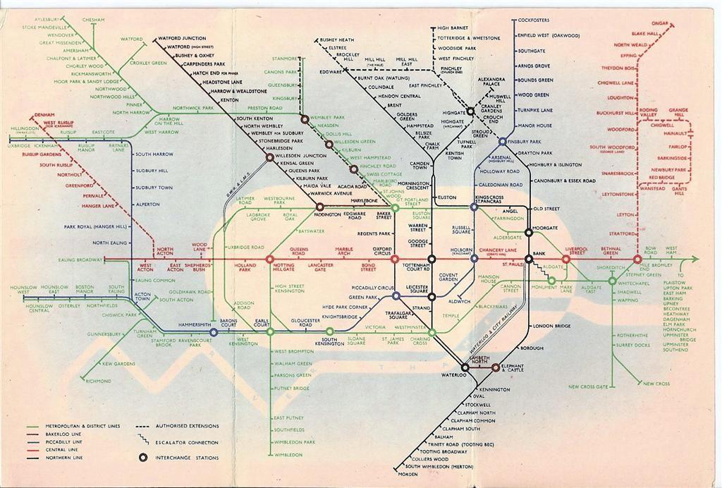 London Transport Underground Maps The Lost Garden - London map 1945