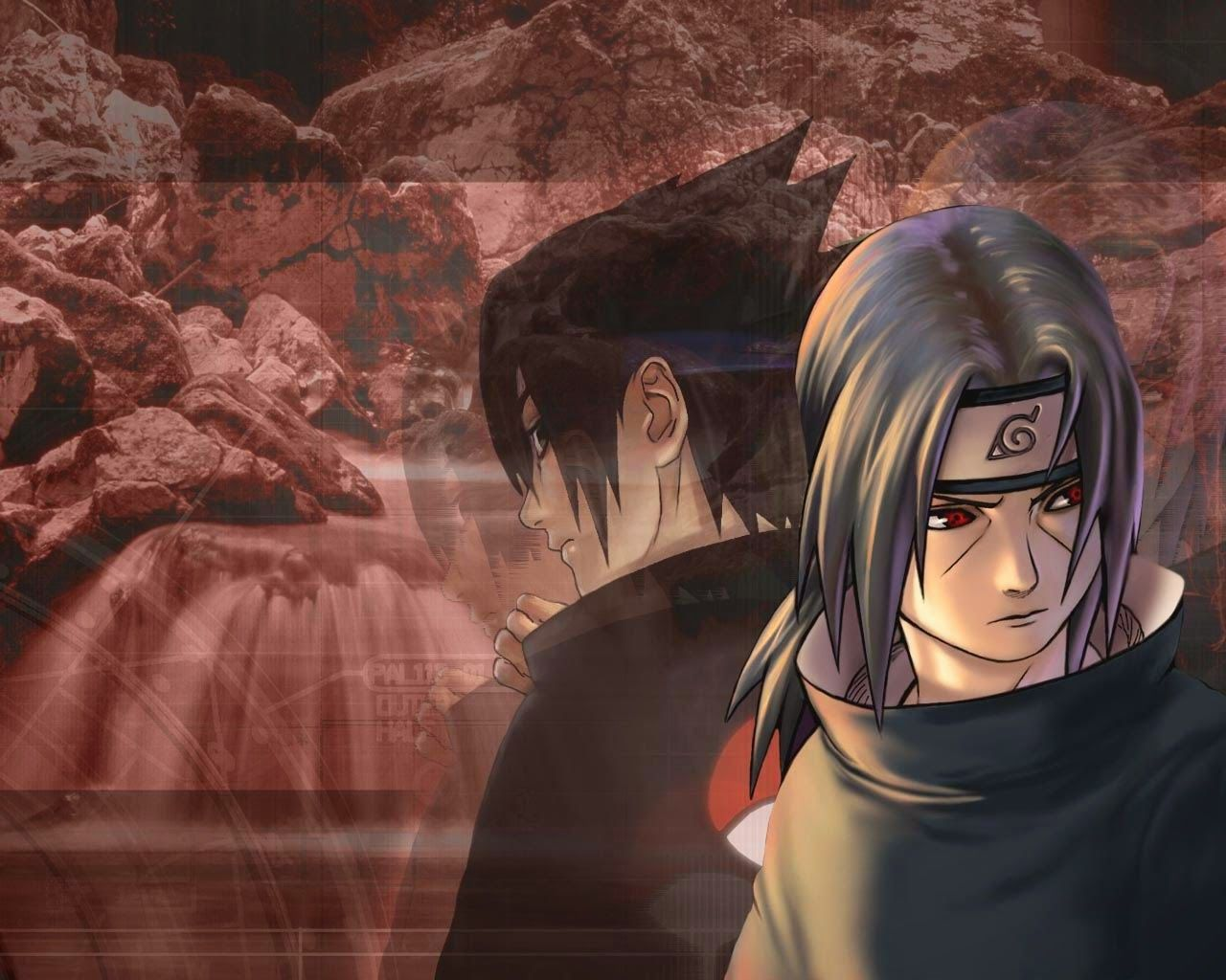 Anime Manga Wallpaper Gratis Sasuke and Itachi Wallpaper