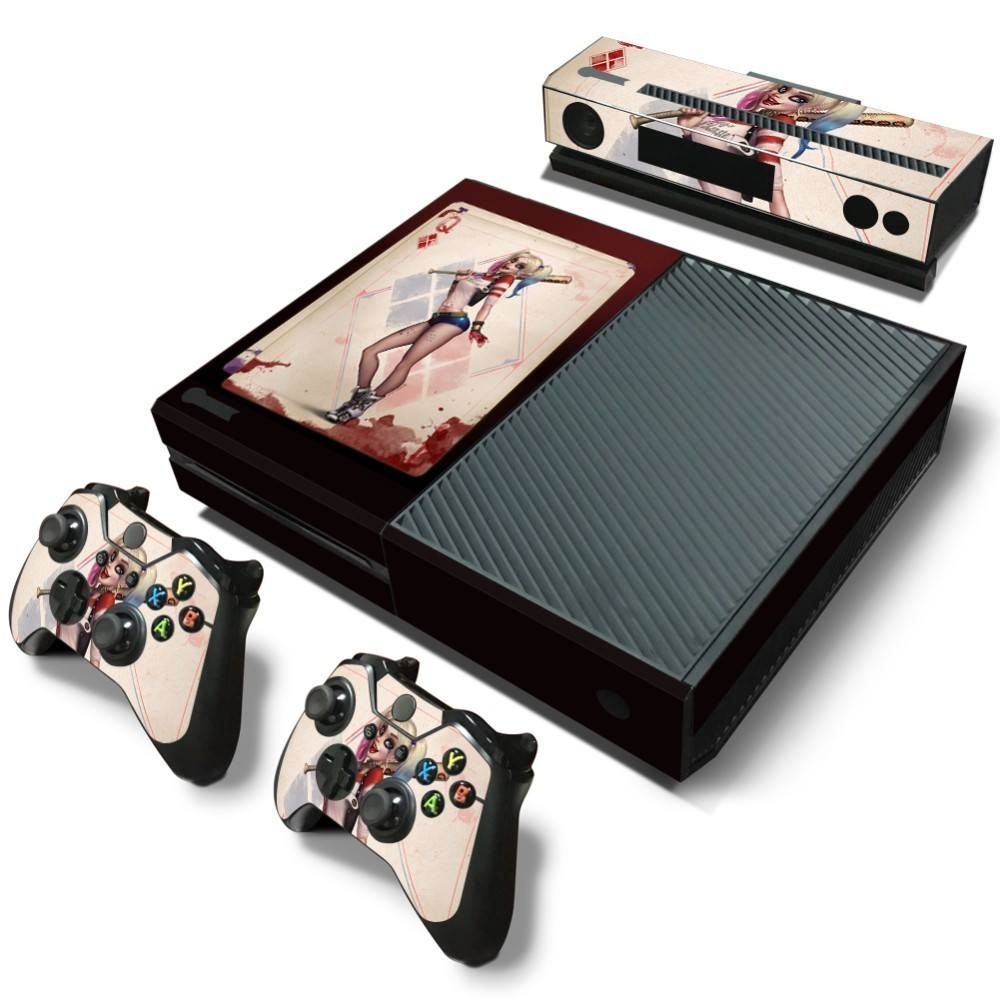 Sexy basball card harley quinn xbox one skin sticker xbox harley a must have harley quinn pvc skin sticker product specifications xbox one console controller skin kinect skin sticker setcollc compatibility for xbox sciox Images