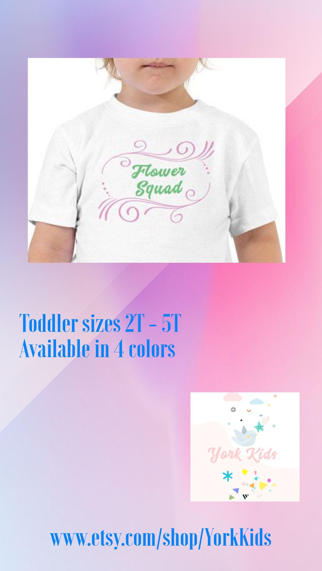 97f8d25be12ed Flower squad toddler tshirt. Flower girl tee. Bridal party wedding ...