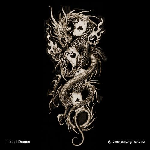 Alchemy gothic imperial dragon dragon tattoo inspiration for Gothic city tattoos