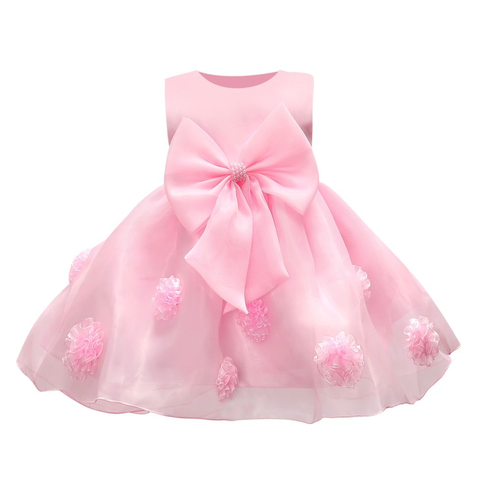 JQ-126 new hot sell baby girl dress lace flower around the kids well ...