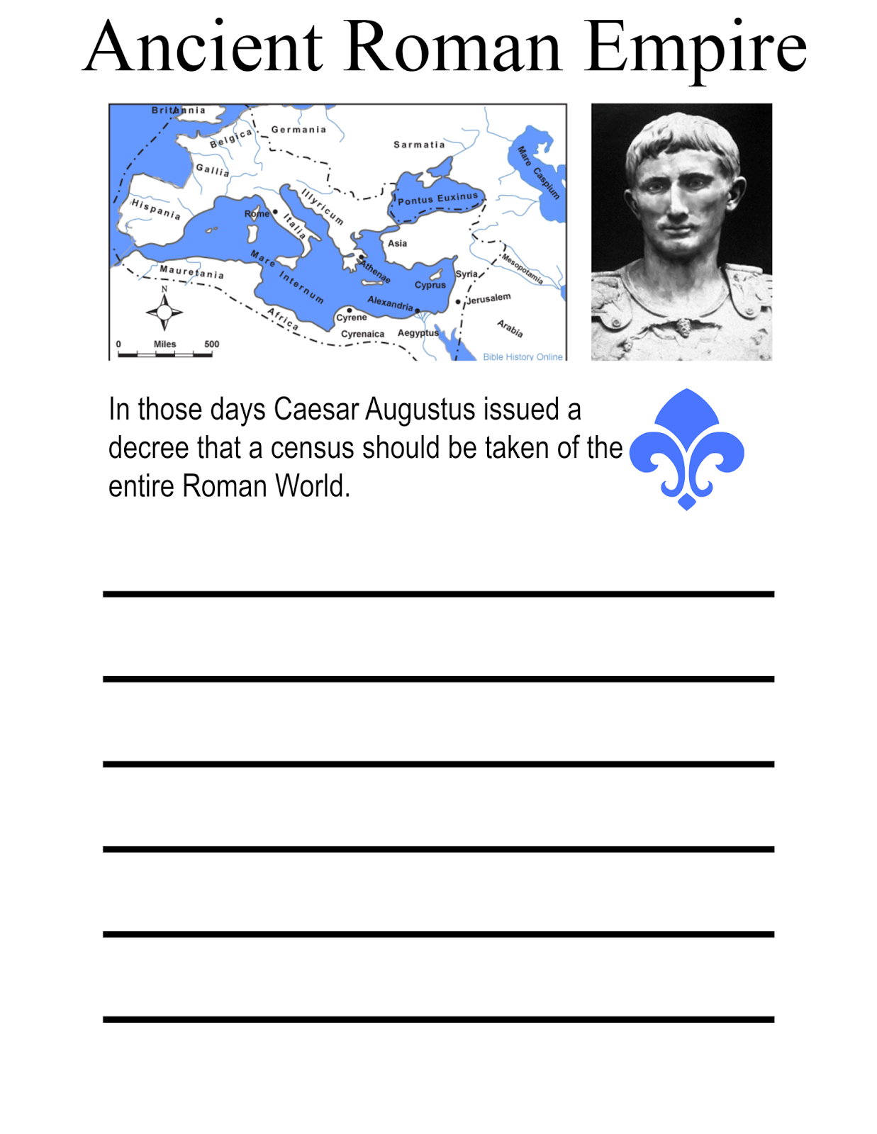 Free Printable Roman Empire Notebooking Page This Is Awesome For Teaching History Handwriting
