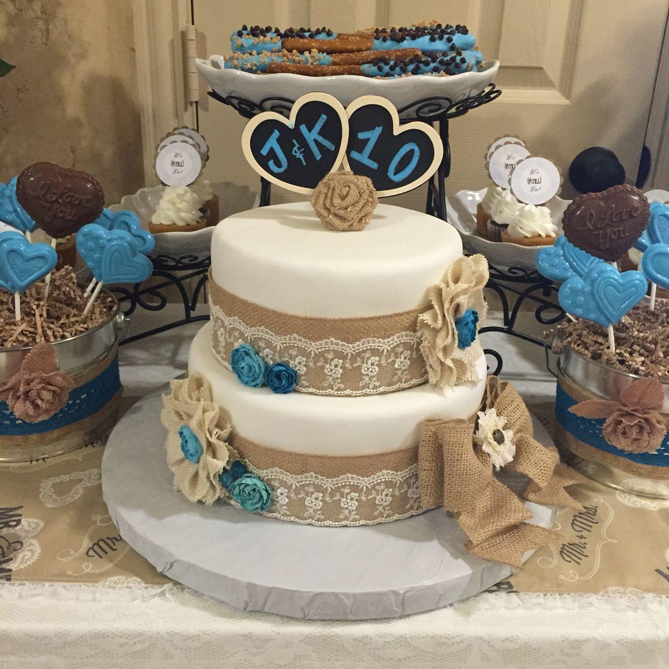 Vow Renewal Cake, 10 Year Anniversary Cake! Chabby Chic