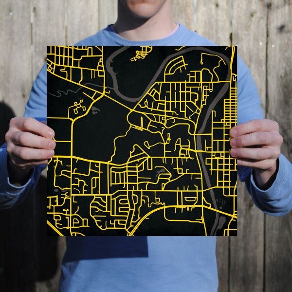 University of Iowa Campus Map Art Display pride for your alma
