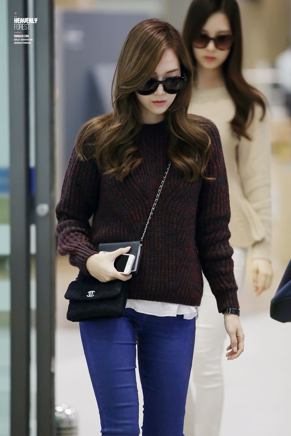 Sweater Chanel Clothes Horse Pinterest Snsd Jessica Jung And Airport Fashion