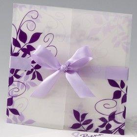 Schön Einladungskarte Hochzeit Lila Ranken. Lila HochzeitsfarbenEinladungskarten  HochzeitTransparentpapierEinladungenHochwertig
