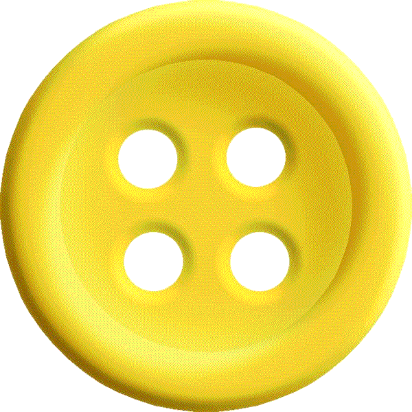 Yellow Sewing Button With 4 Hole Png Image Sewing A Button Yellow Sewing