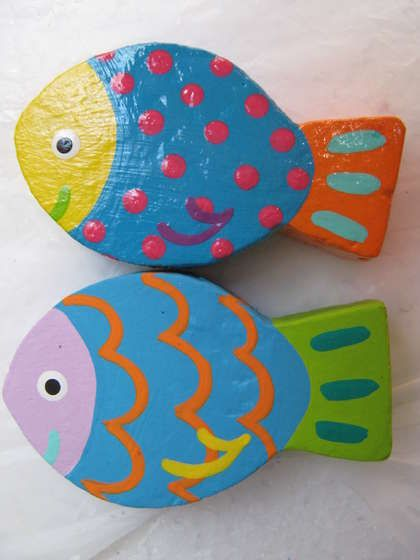 Fish-magnet Fish crafts, Paper mache and Fish