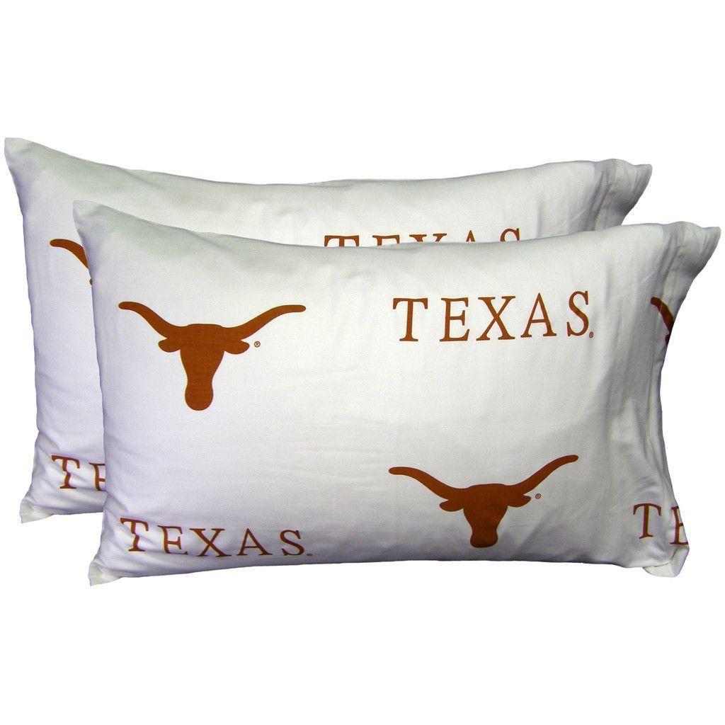University of Texas, Austin White Pillowcase | Texas, Bath sheets ...