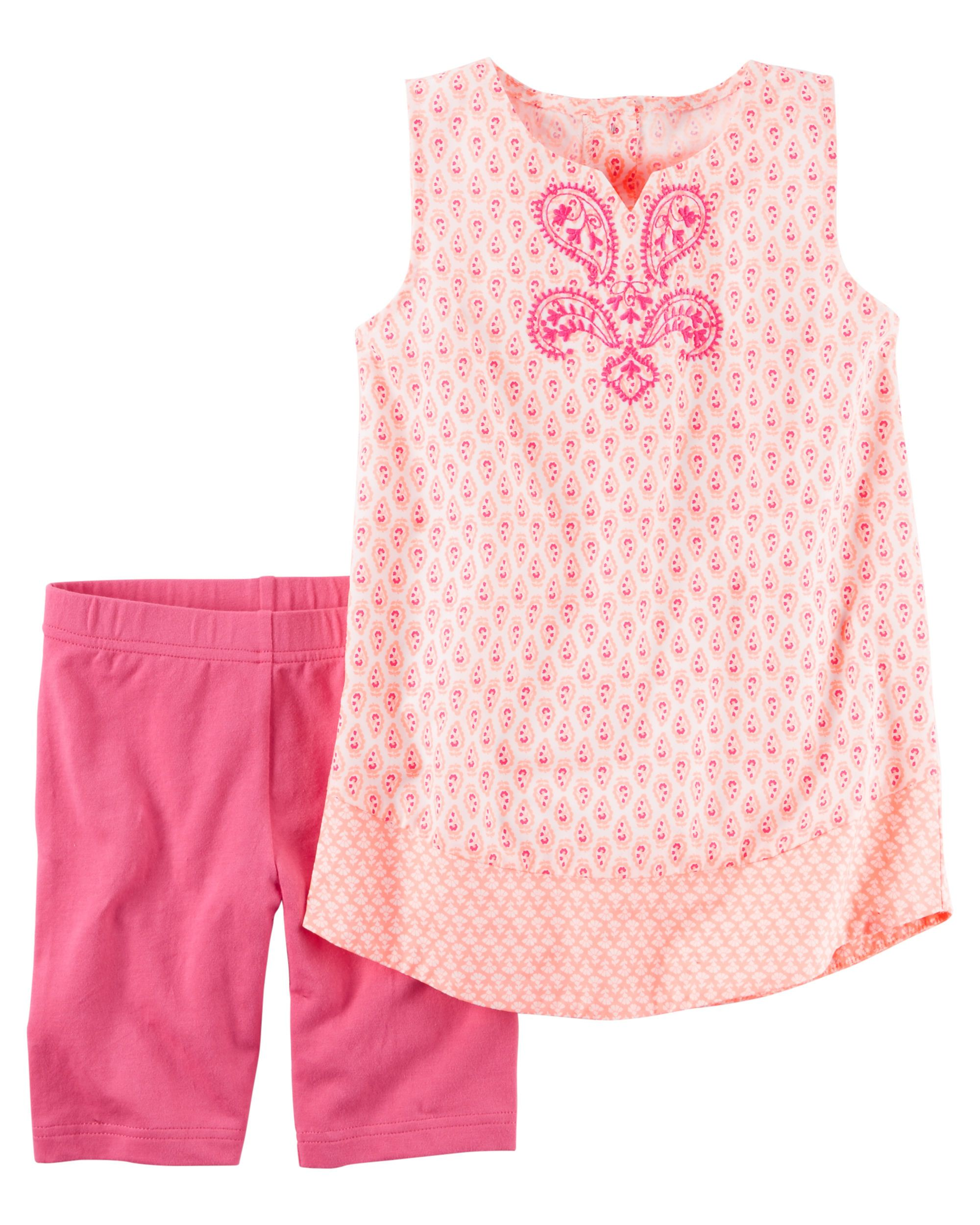 Kid Girl 2-Piece Printed Tank & Playground Short Set from Carters.com. Shop clothing & accessories from a trusted name in kids, toddlers, and baby clothes.