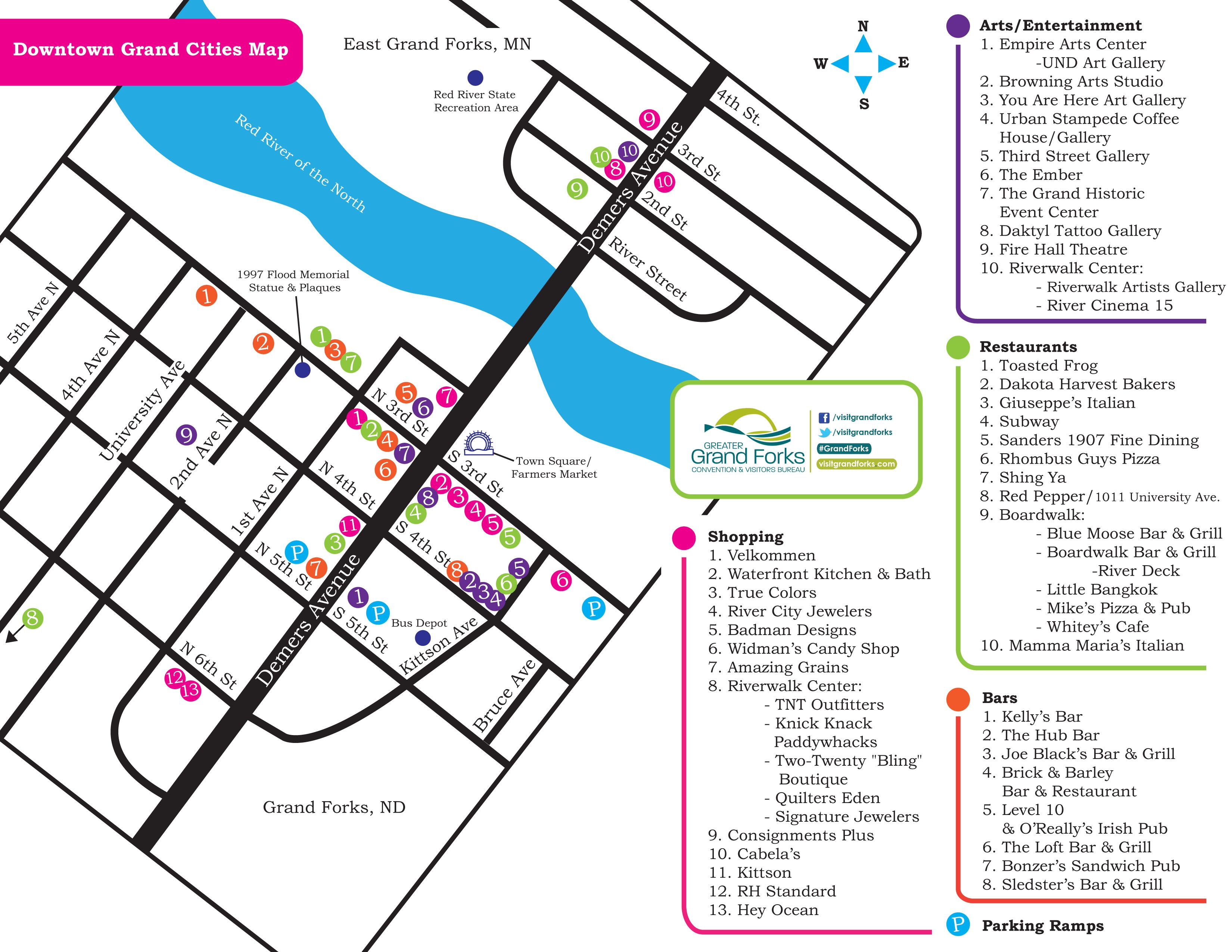 Downtown Grand Forks Map GoDowntownGF Pinterest