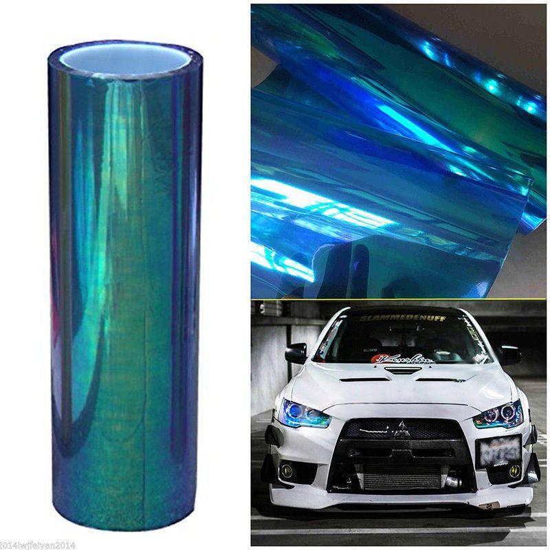 12 X60 Chameleon Neo Blue Color Headlight Taillight Fog Light
