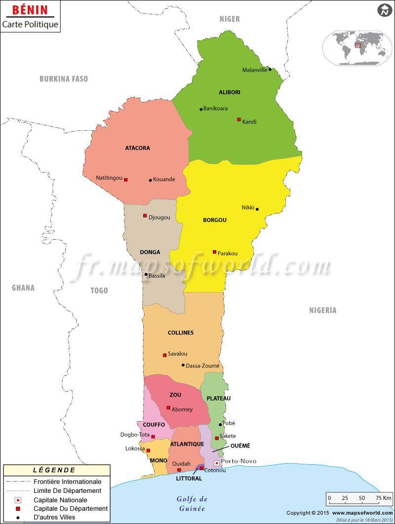 Carte de Benin Map of Benin mapsinfrench Carte du Monde