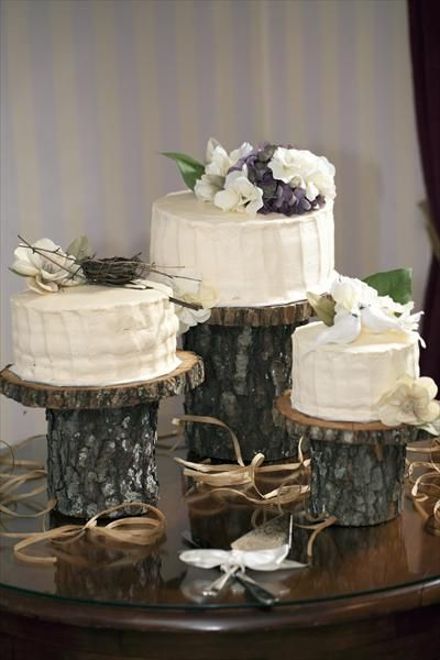 Our Rustic Diy Wedding The Knot Rustic Cake Stands Wedding Cake Stands Rustic Cake
