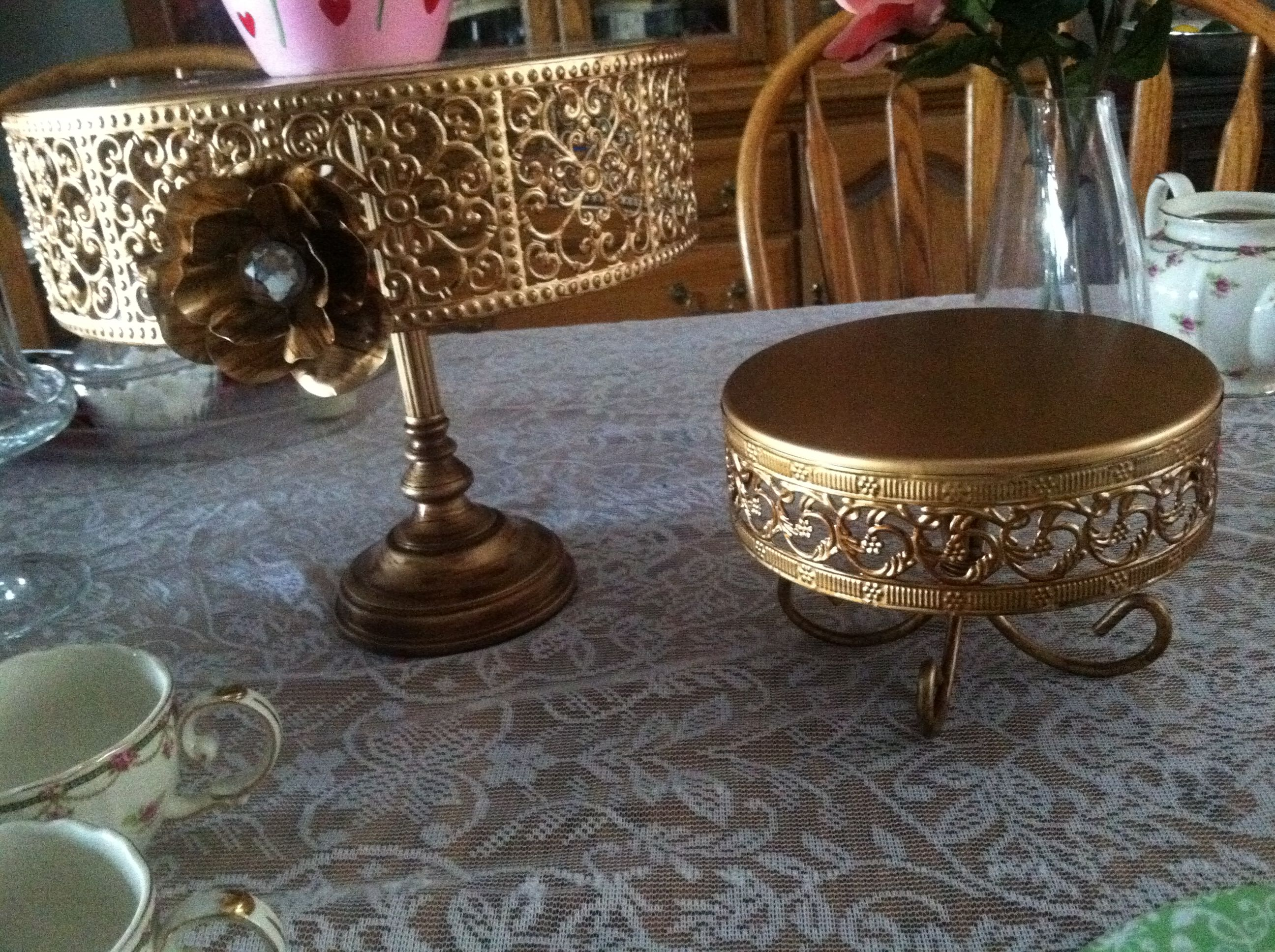 wedding cake stands gold gold cake stands vintage homegoods collection 25653
