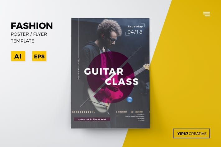 Guitar Class Flyer Party Event Download Here Http1envato