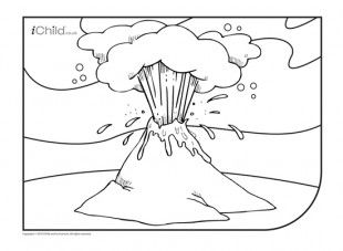 Volcano Colouring In Picture Colorful Pictures Coloring Pictures Printable Activities