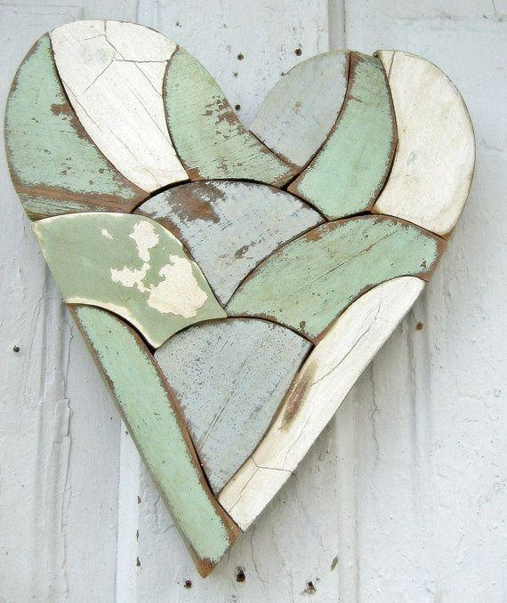 Reclaimed Wood Mosaic Art