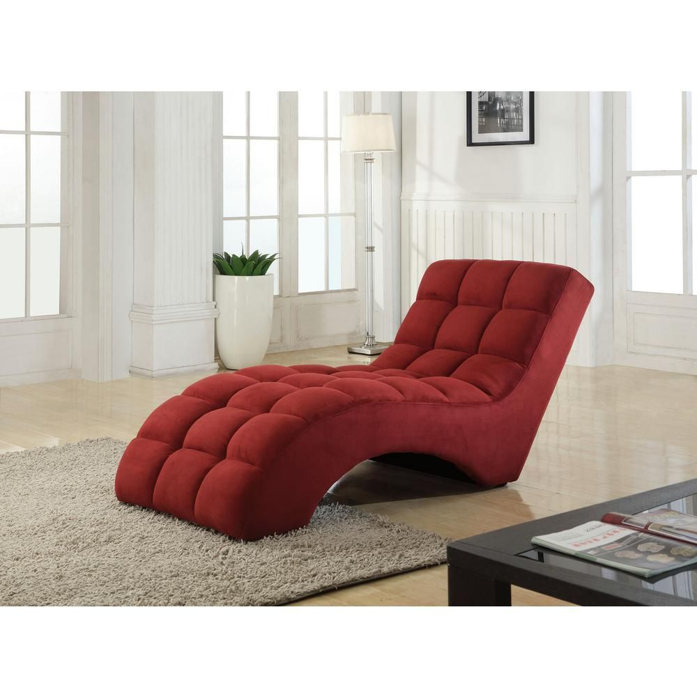 Red Chaise Lounge Chair Green Adirondack Chairs Null Tufted Products Muebles Star Home Living Corp Microfiber