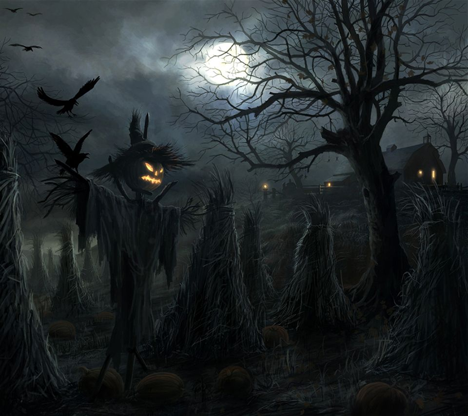 halloween screensavers and backgrounds | scarecrow halloween android