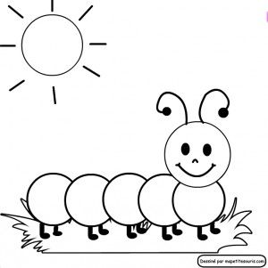 Images Caterpillar Coloring Pages For Kids Oruga Dibujo Dibujo
