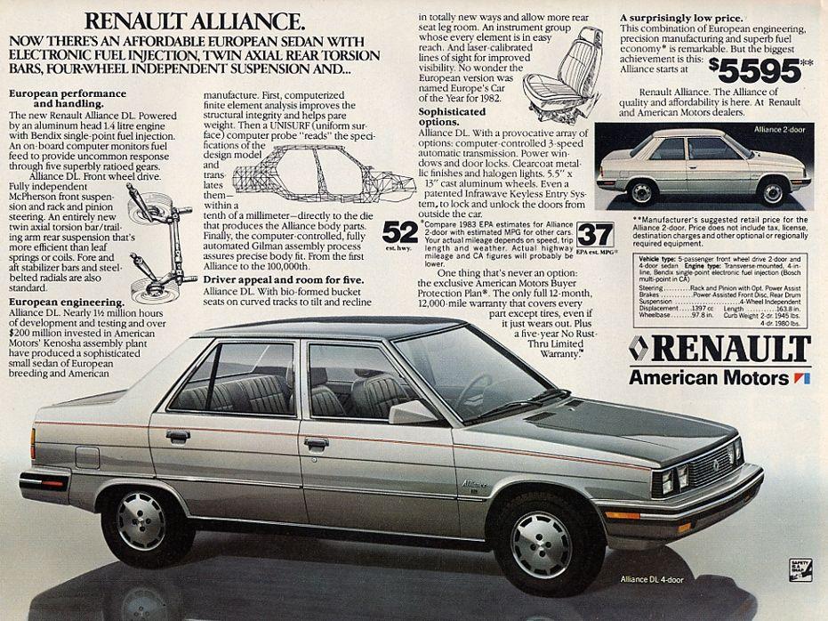Renault alliance 1985