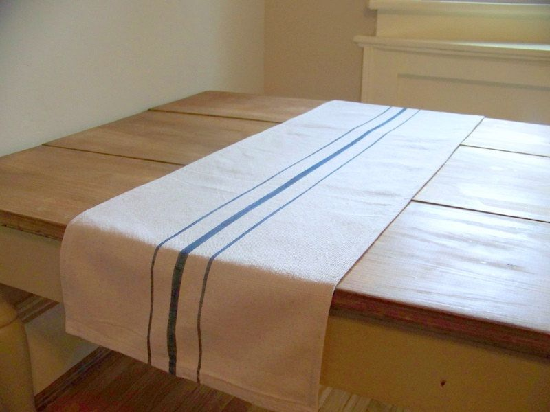 Grainsack Table Runner   Navy Blue Stripe   Canvas   Vintage Style. $29.99,  Via