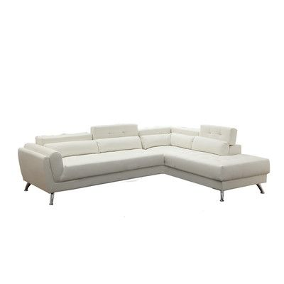 Orren Ellis Mercuri 109 Wide Faux Leather Right Hand Facing Sofa Chaise Sectional Sofa Couch Sectional Reclining Sectional