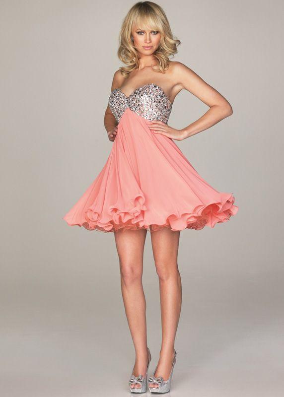 52b3070555c1 School+Teen+Short+Dress | prom dress teen girls love to wear pink prom  dresses as pink color .