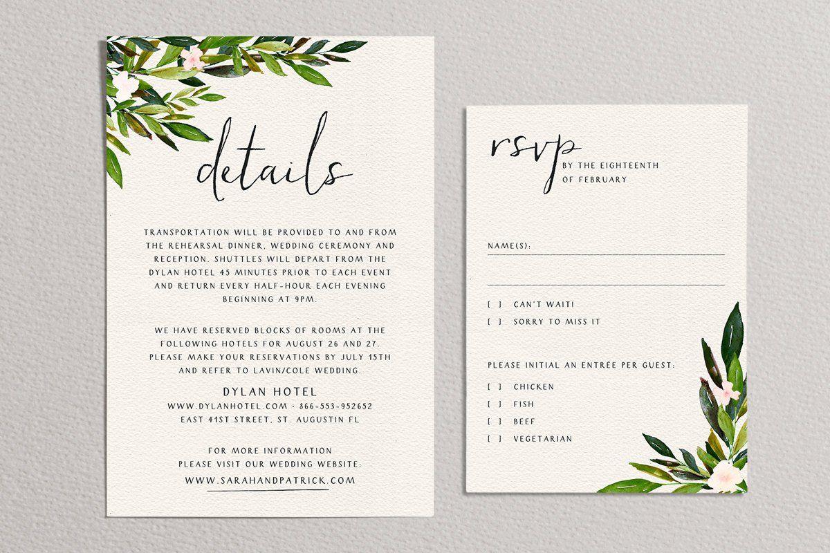 29++ Simple greenery wedding invitations ideas