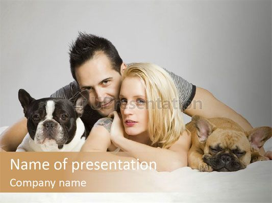 French Couple Dog Powerpoint Template Free Templates For