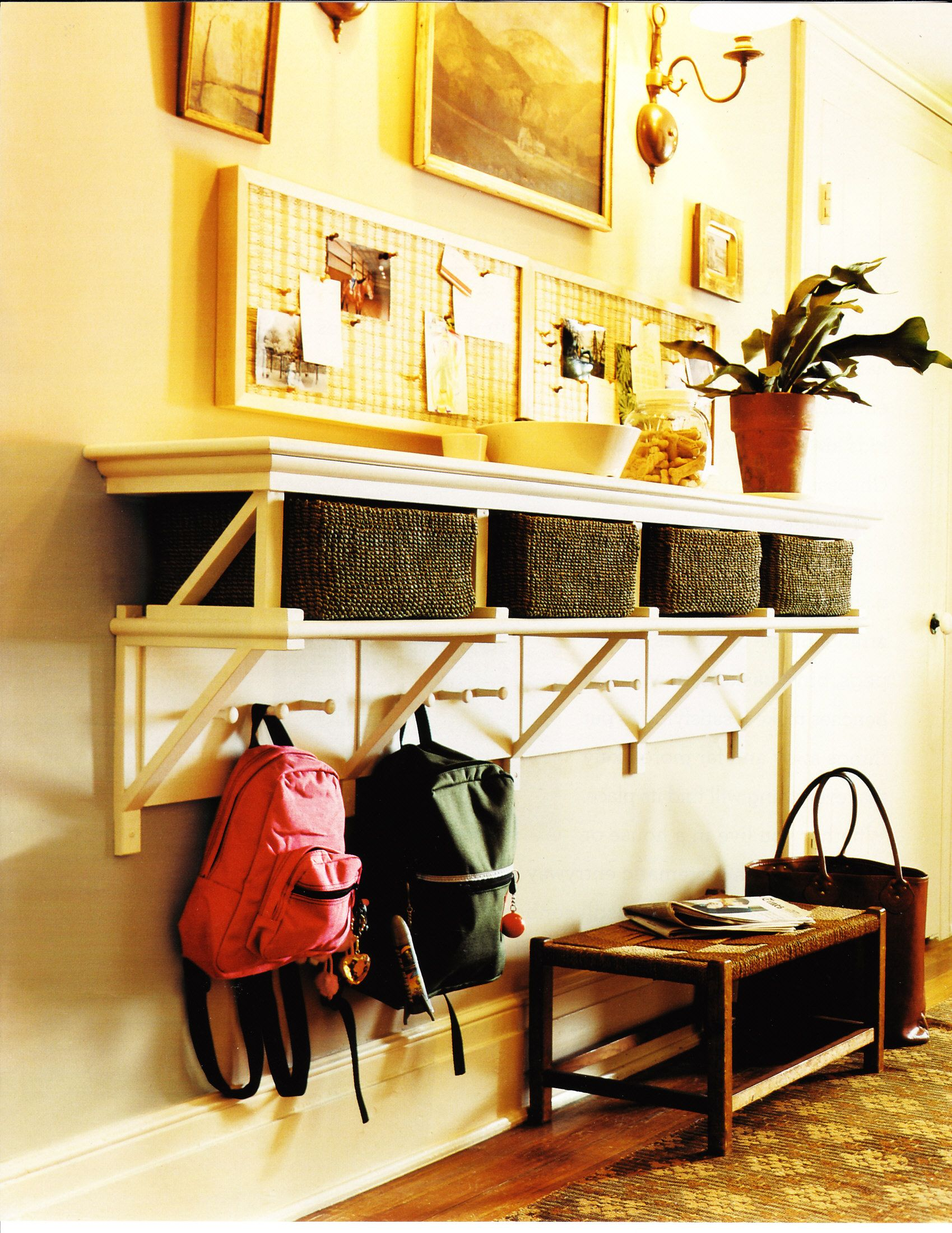 25 school bag storage ideas | Organizing, Spaces and Organizations