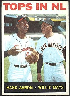 Tops In Nl 1964 Baseball Card Featuring Hank Aaron And