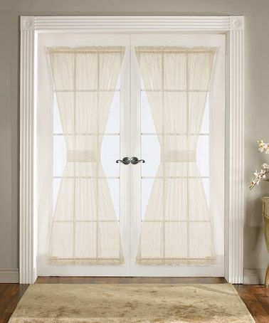 Take A Look At This Ivory Breeze Door Curtain Panel Set Of Two