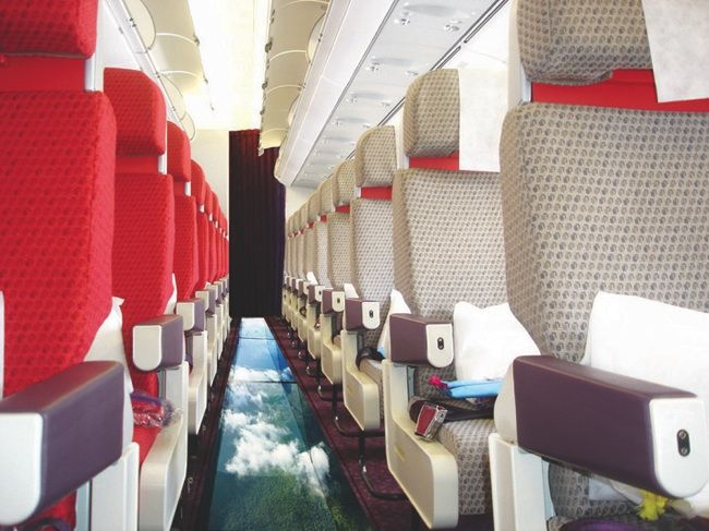 Would you want to fly a glass bottomed plane?