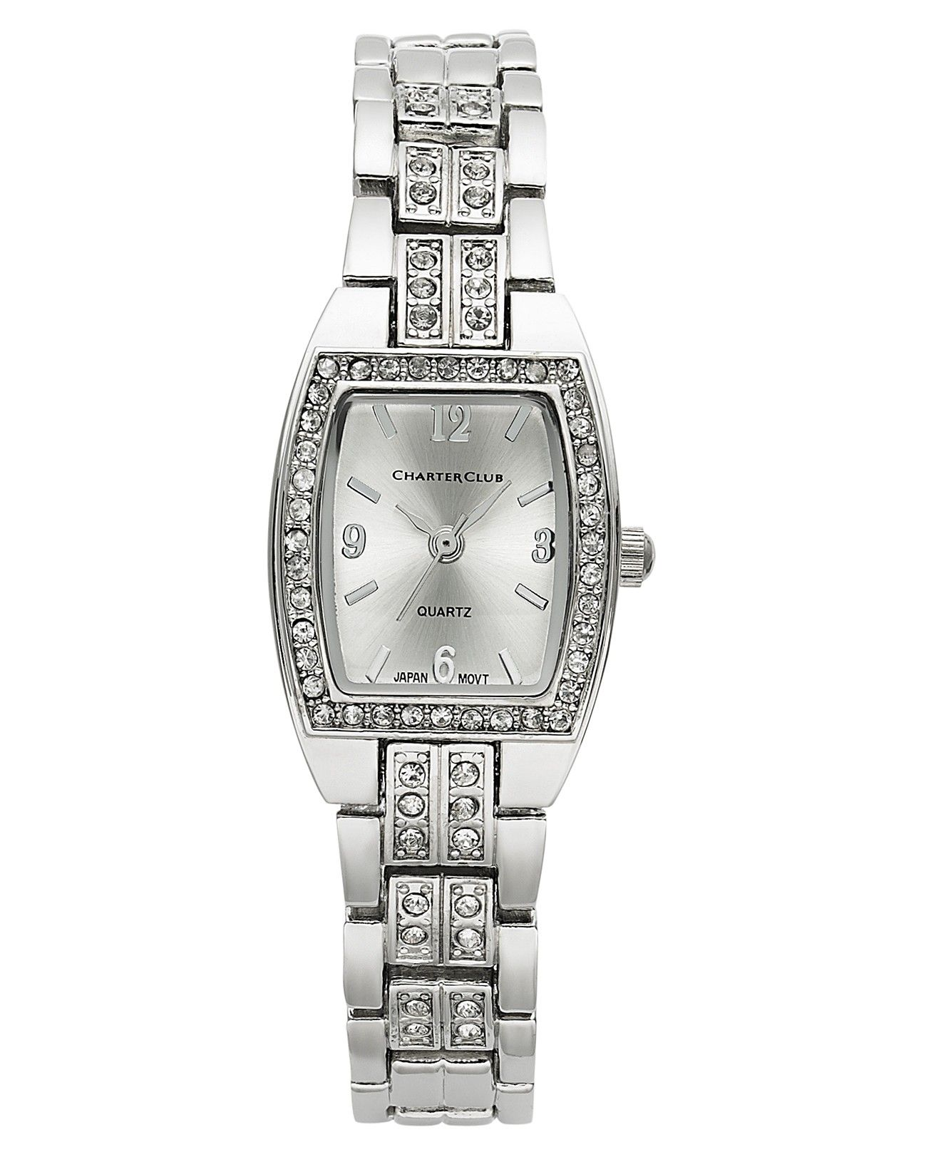 s watches pin crystal watch dial silver lyumax caravelle bracelet women by bulova