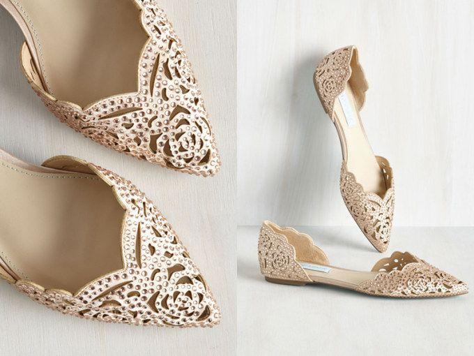 Znalezione Obrazy Dla Zapytania Balerinki Do Sukni Slubnej Wedding Flats Rose Gold Flats Super High Heels
