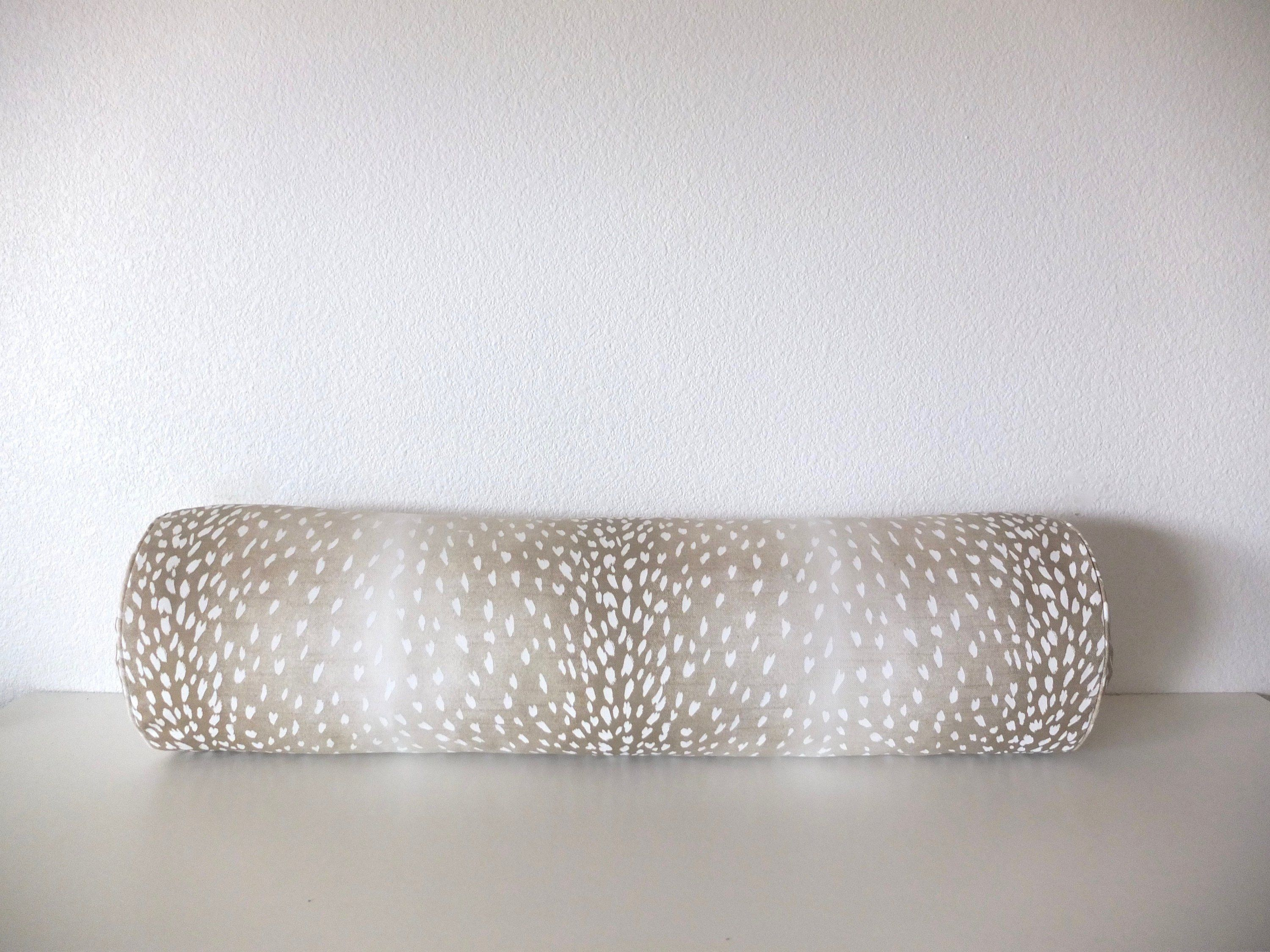 fawn bolster pillow cover 100 cotton