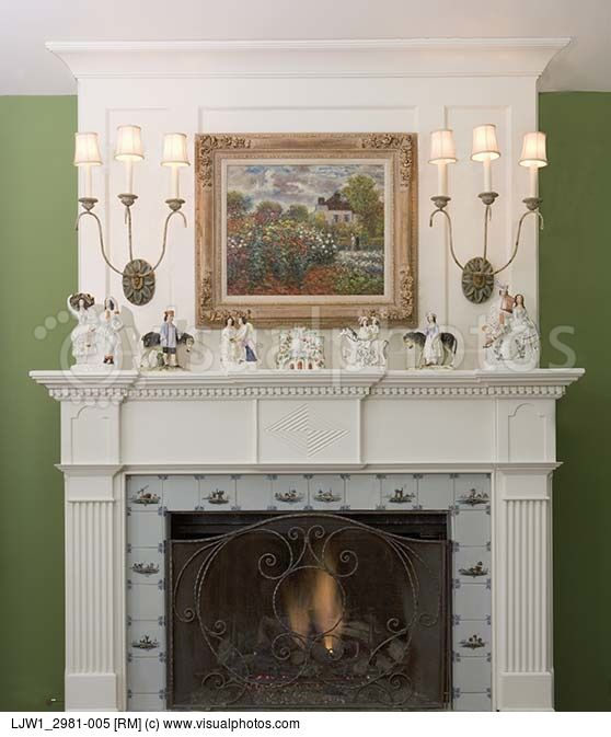 White Brick Baldwin Park S Design: Painted White, Brick Fireplace - Google Search