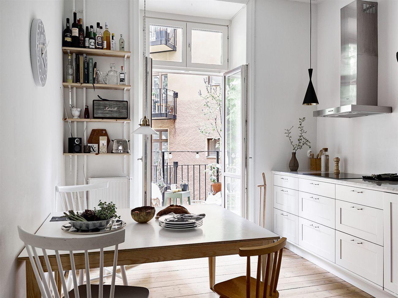 Lámparas colgantes sobre la encimera | Iluminacion cocina, Cocina ...