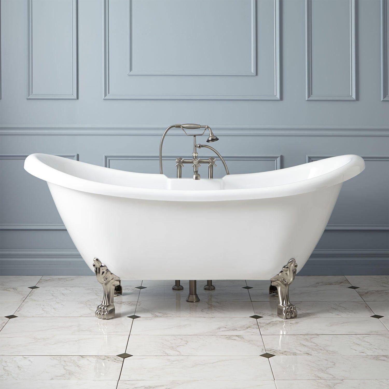 Rosalind Acrylic Clawfoot Tub - Lion Paw Feet | Master bedroom/bath ...