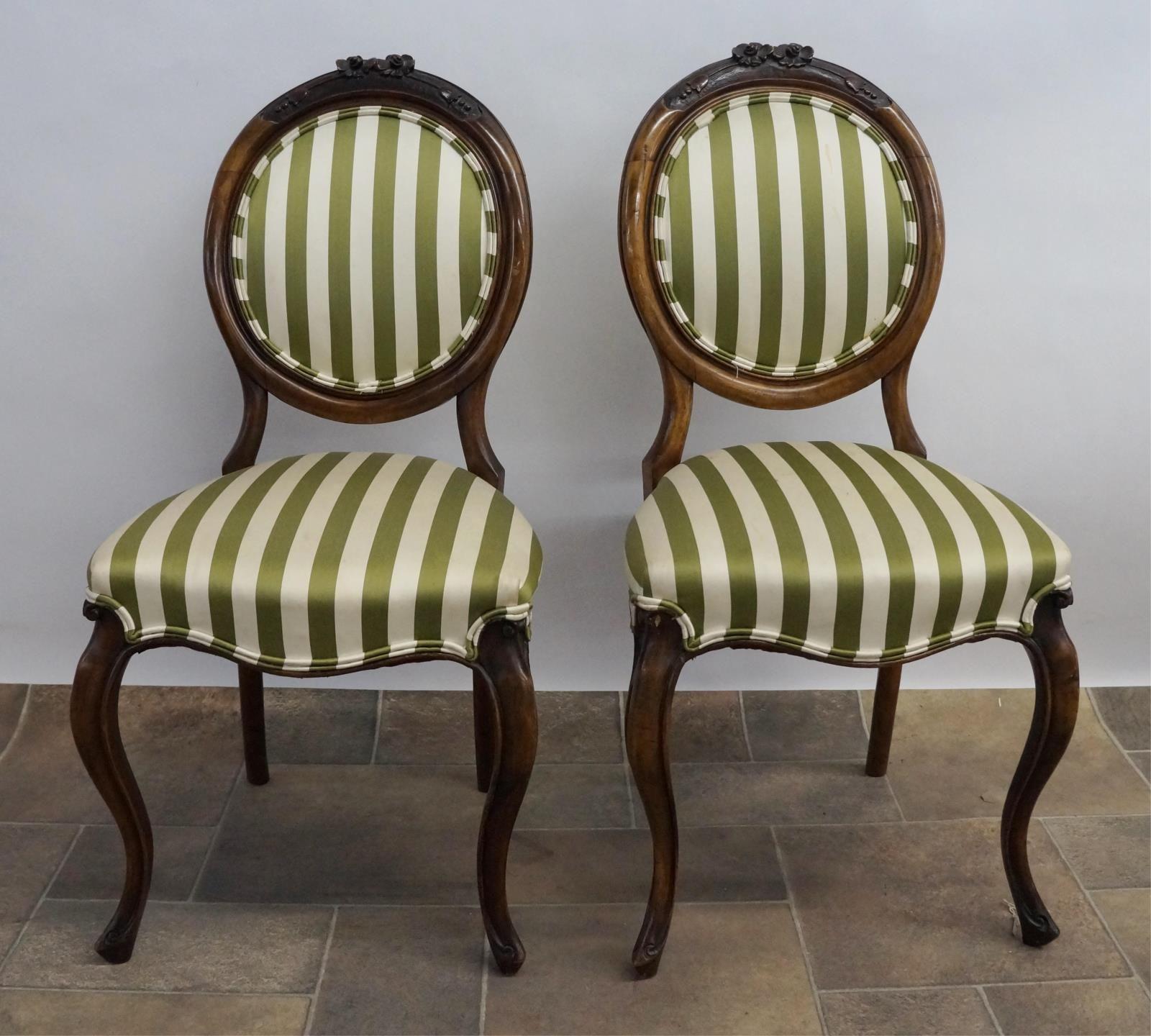 Lot 21 Victorian Mahogany Balloon Back Chairs 2