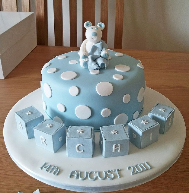 Archie S Naming Day Cake With Images Shower Cakes Torta Baby