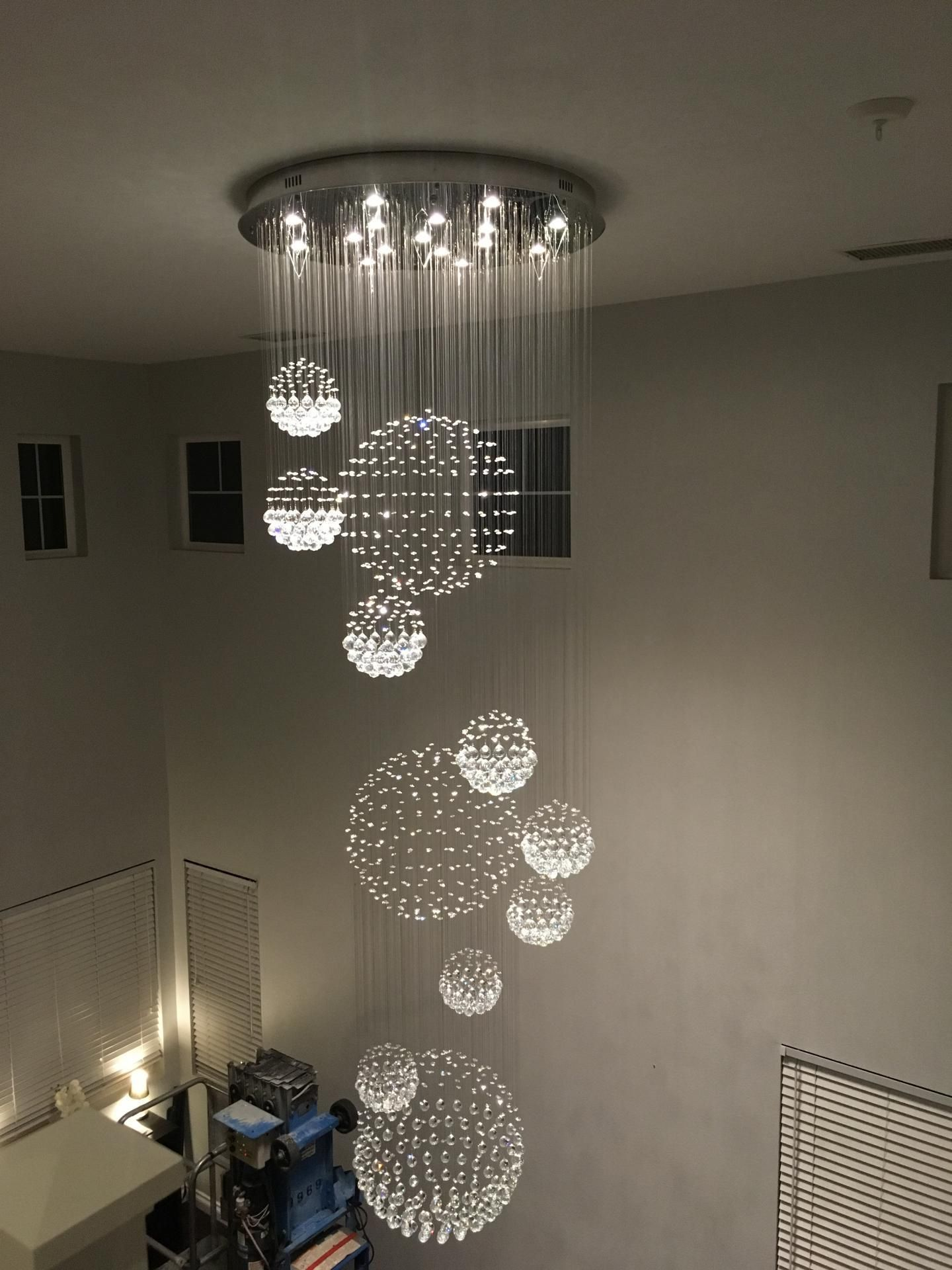 Luxury Solar System Spiral Raindrop Chandelier Modern Luxury
