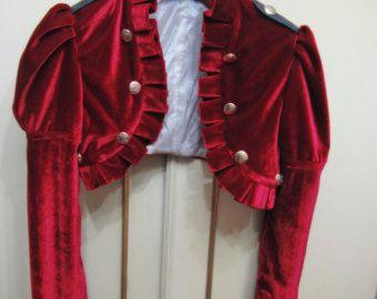 Red Steampunk victorian bolero shrug