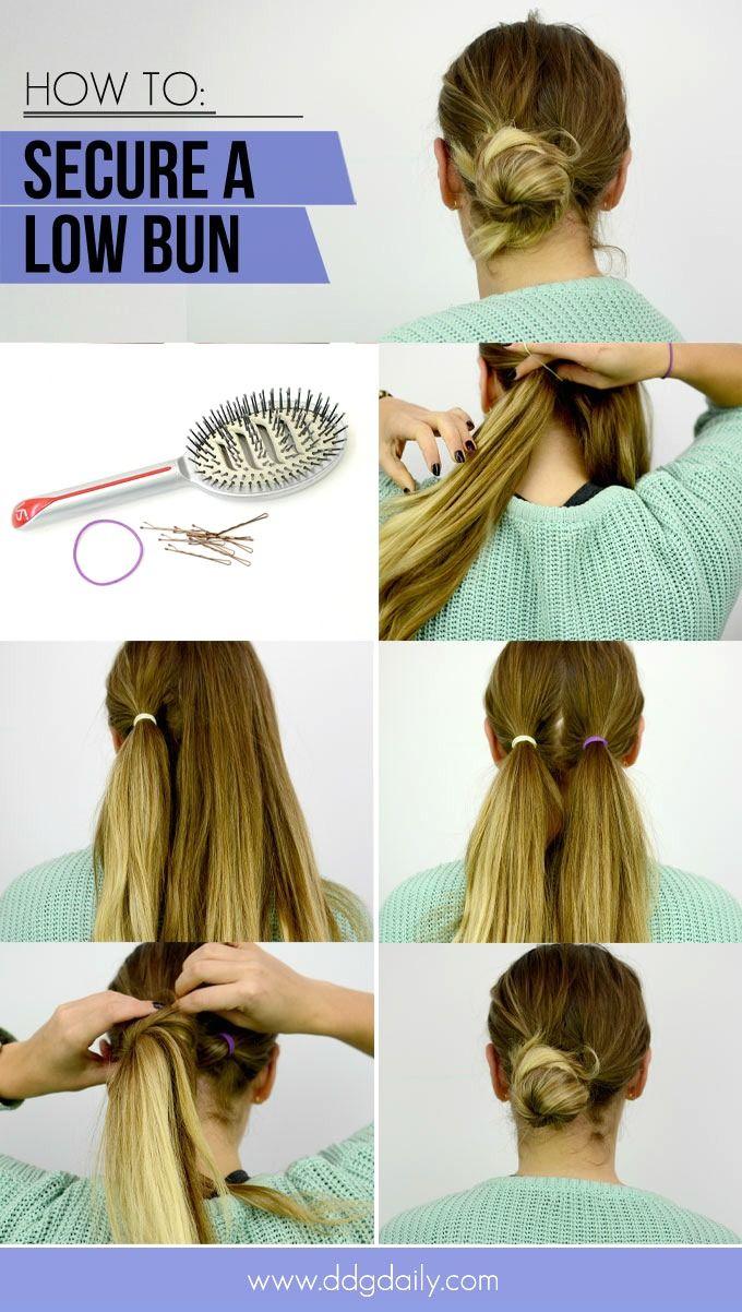 How To Tie A Hair Bun So That It Won T Fall Out Bun Hairstyles Hair Romance Short Hair Styles Easy