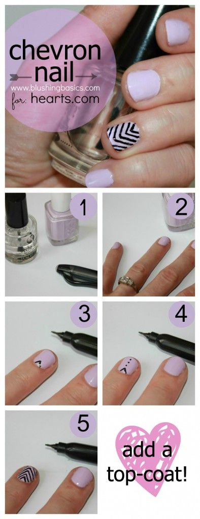 Diy Chevron Nails With Kristie From Blushing Basics