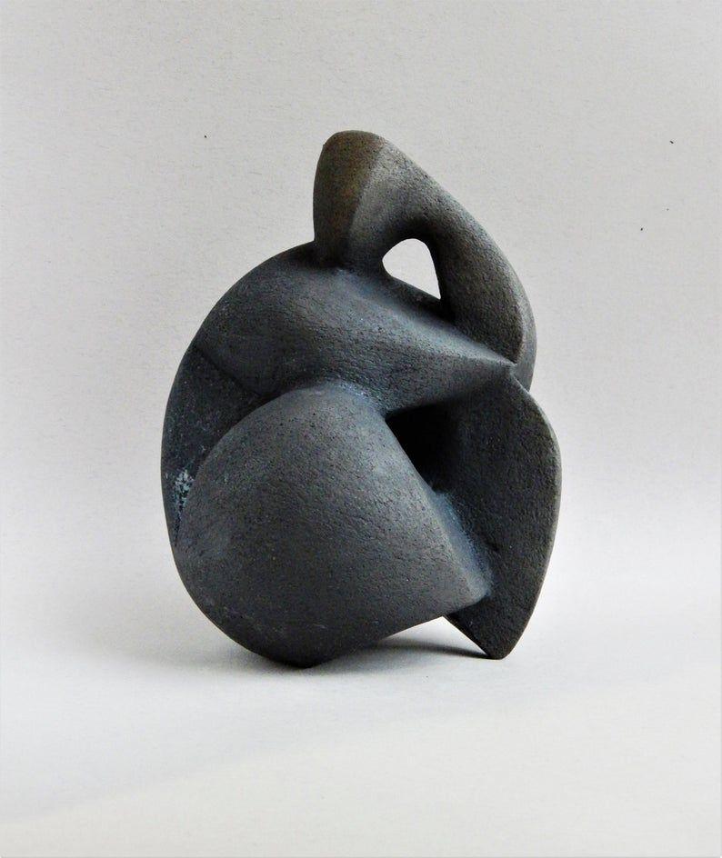 Ceramic sculpture black ceramics ceramic figurine african