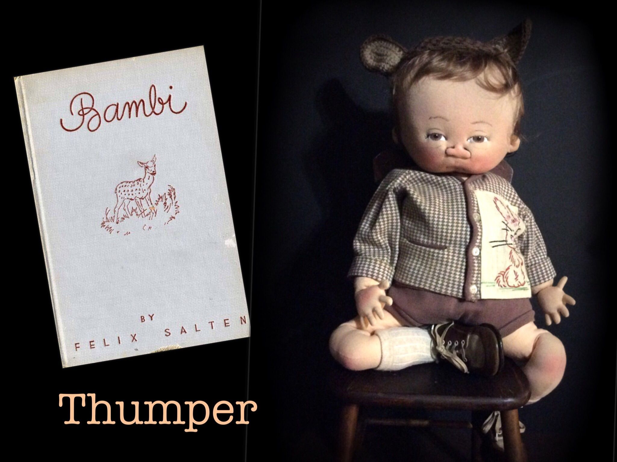 Thumper from Bambi one of a kind by doll artist Jan Shackelford